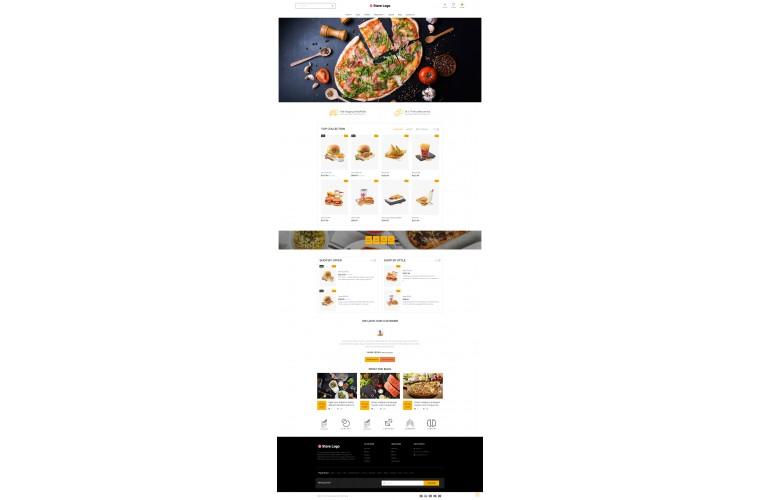 Next Restaurant Shop - Responsive OpenCart theme
