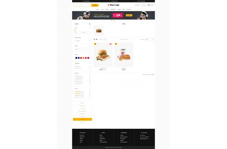 Food Revo - Drag & Drop Multipurpose OpenCart Theme