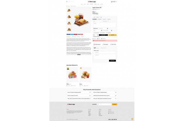 2021 Food Light and fast OpenCart Theme
