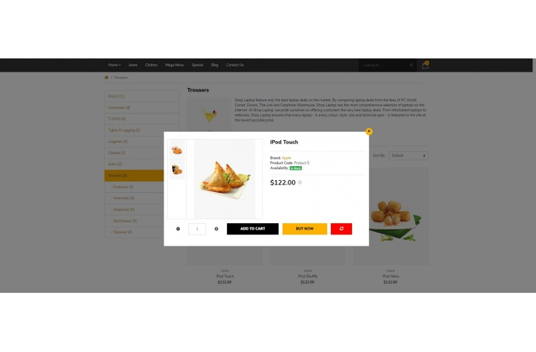 Food Pro Clean responsive OpenCart Theme