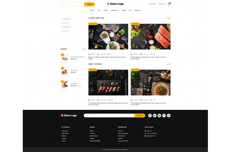 My Food Advanced multi-purpose opencart theme