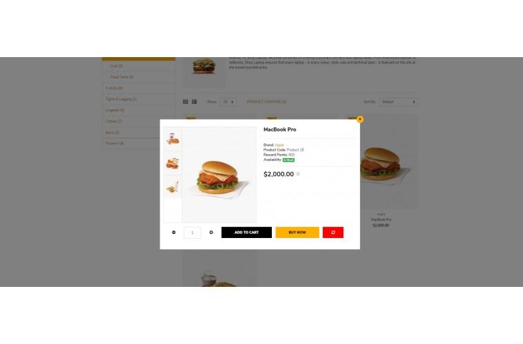Light Restaurant Food Premium Opencart theme