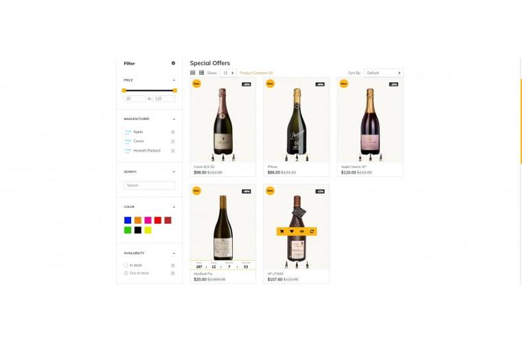 Grand Liquor Opencart fully responsive theme