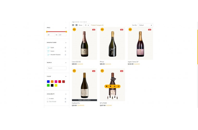 Liquor Alcohol Opencart 3 opencart 4 Responsive theme
