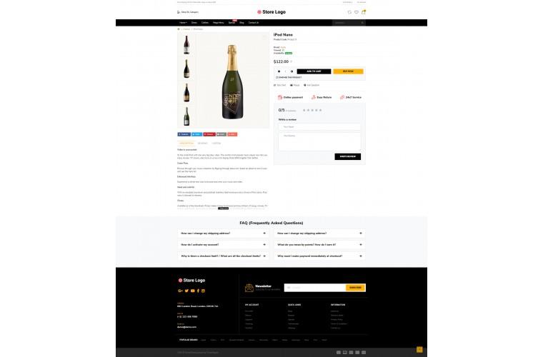 Easy Liquor Multi purpose Opencart theme