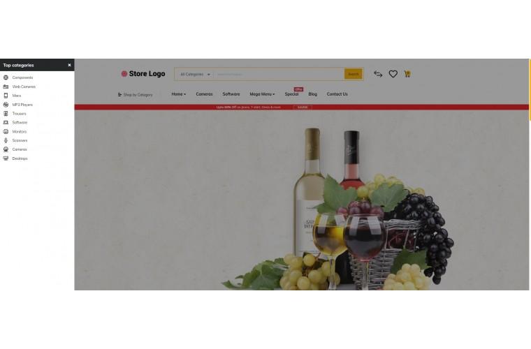 Journal Liquor Alcohol Advanced Opencart Theme