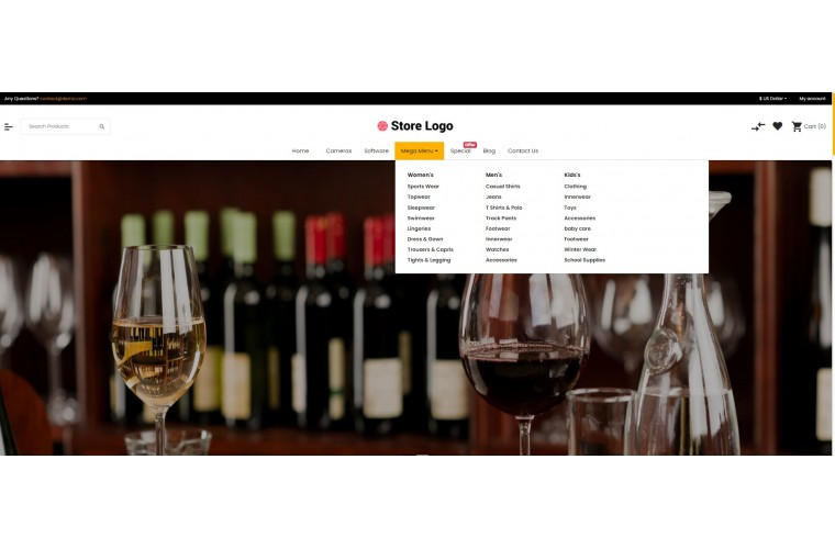 Sellegance Liquor Responsive and Clean OpenCart Theme