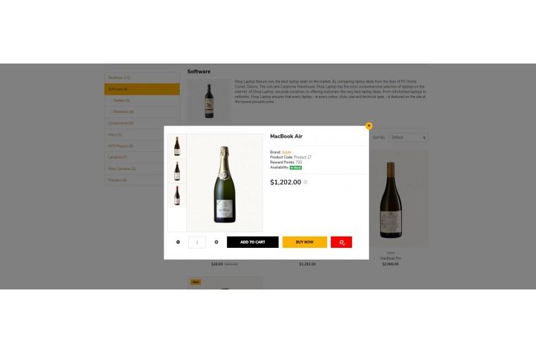 Liquor Market Shop - Multi-Purpose OpenCart Theme