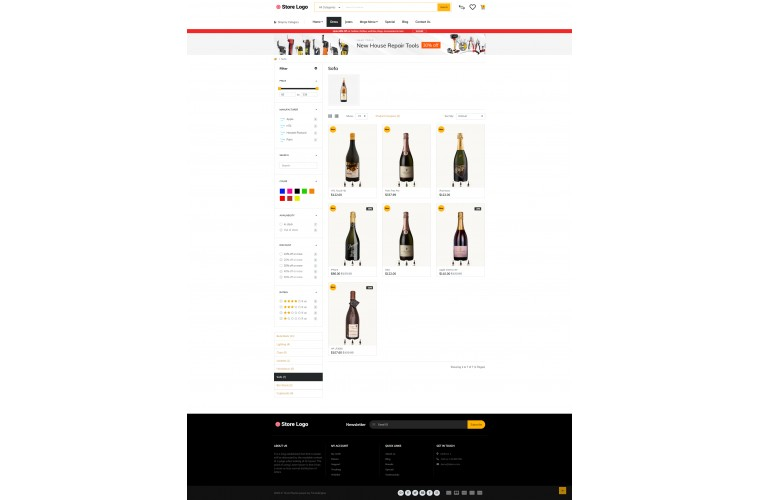 Rzen Liquor - Multi-Purpose OpenCart Theme