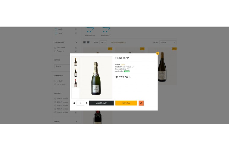 Liquor eMarket - Multipurpose MarketPlace OpenCart 3 Theme