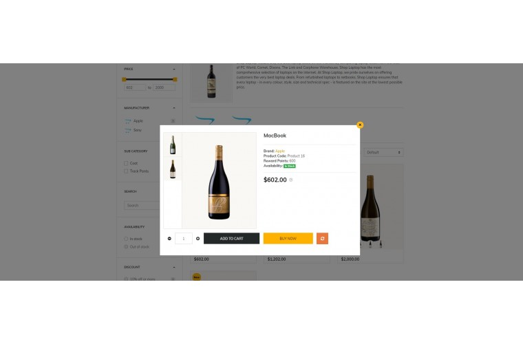Liquor Market Shop - Advanced OpenCart Theme
