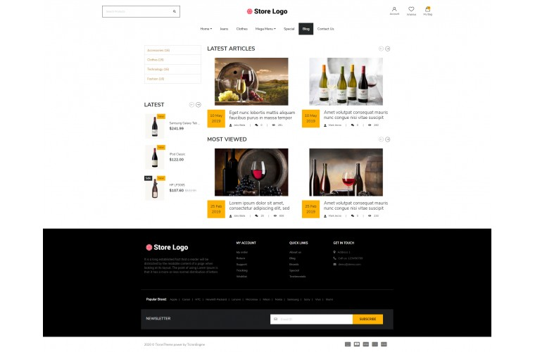 Next Alcohol Shop - Responsive OpenCart theme