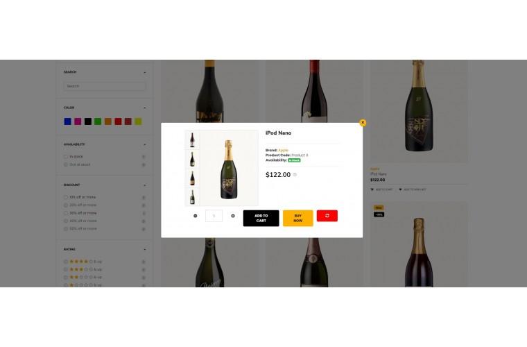 2021 Liquor Light and fast OpenCart Theme