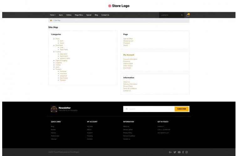 Liquor Pro Clean responsive OpenCart Theme