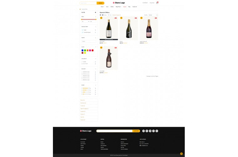 My Liquor Advanced multi-purpose opencart theme
