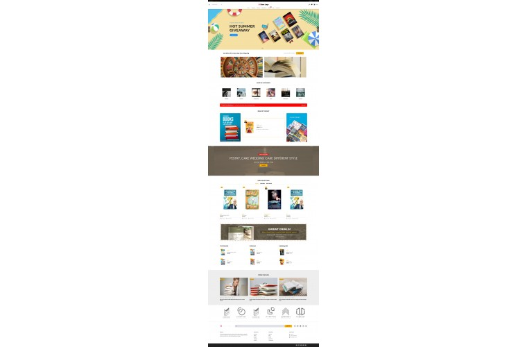 Sellegance Books Responsive and Clean OpenCart Theme