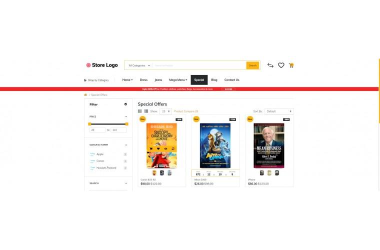 Rzen Books - Multi-Purpose OpenCart Theme