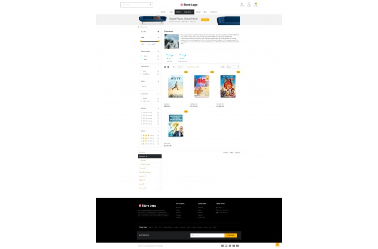 Next Stationery Shop - Responsive OpenCart theme