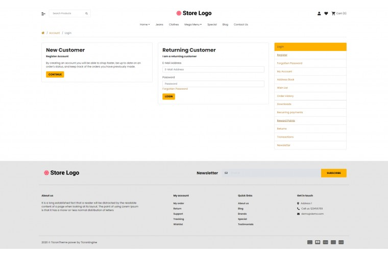 2021 Books Light and fast OpenCart Theme