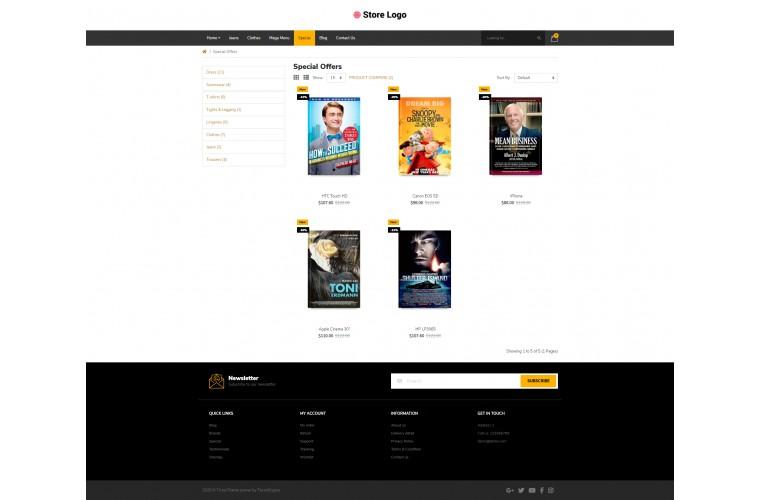 Books Pro Clean responsive OpenCart Theme