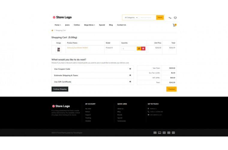 Faster Stationery Pro Opencart theme