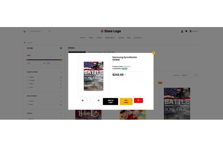Fast Books Advanced Opencart theme