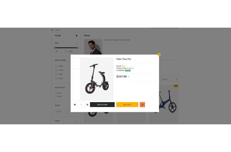 NUVO - Electric bike & Battery Opencart 3 Multipurpose theme