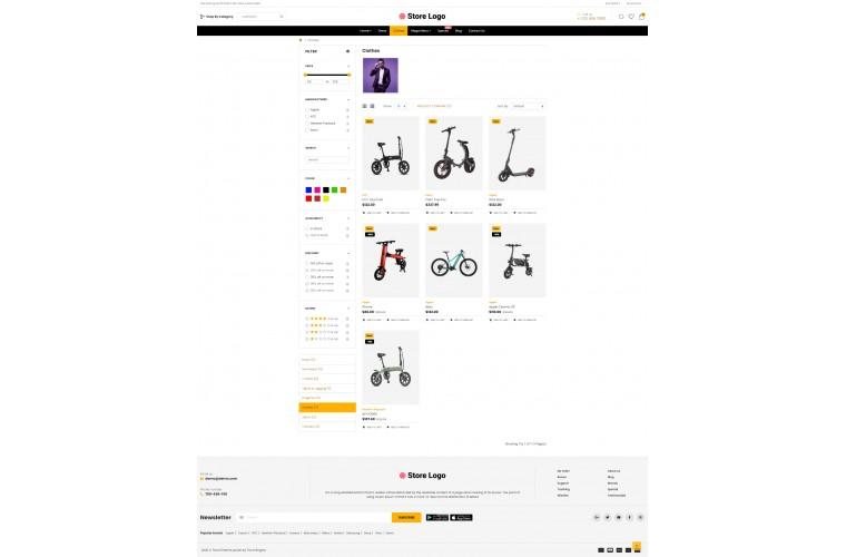 OC Electric bike Multi Purpose Opencart theme