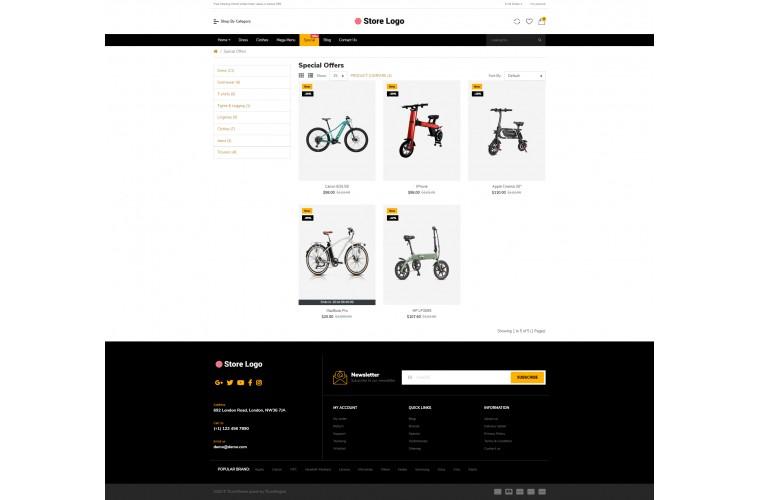 Easy Electric bike Multi purpose Opencart theme