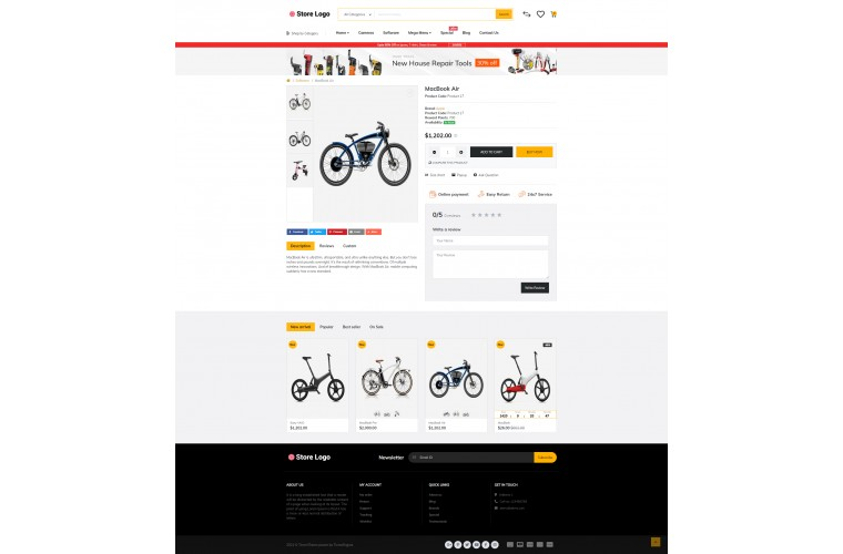Journal Electric bike Battery Advanced Opencart Theme