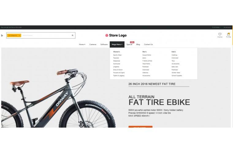 Shopica Electric bike Advanced Opencart Theme