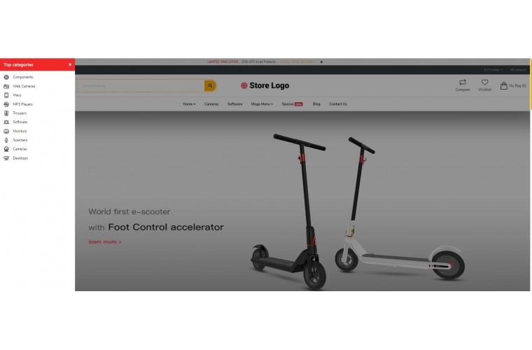 Fastor Electric bike Advanced Opencart Theme