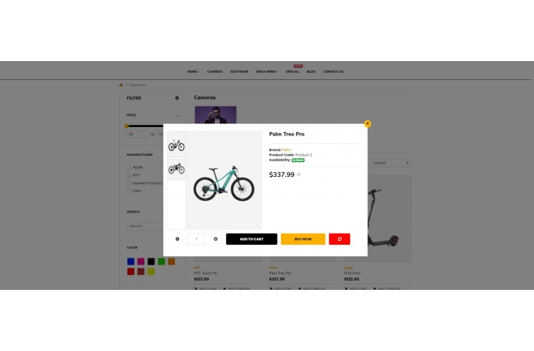Sellegance Electric bike Responsive and Clean OpenCart Theme