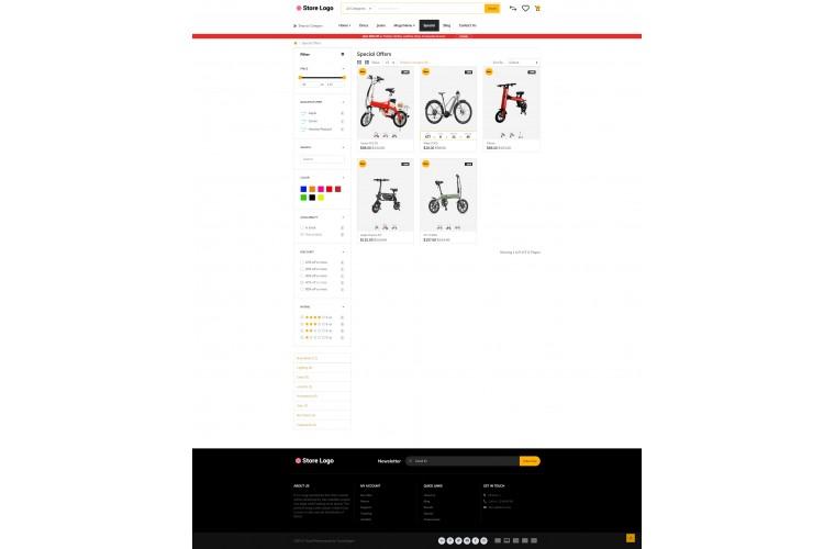 Rzen Electric bike - Multi-Purpose OpenCart Theme