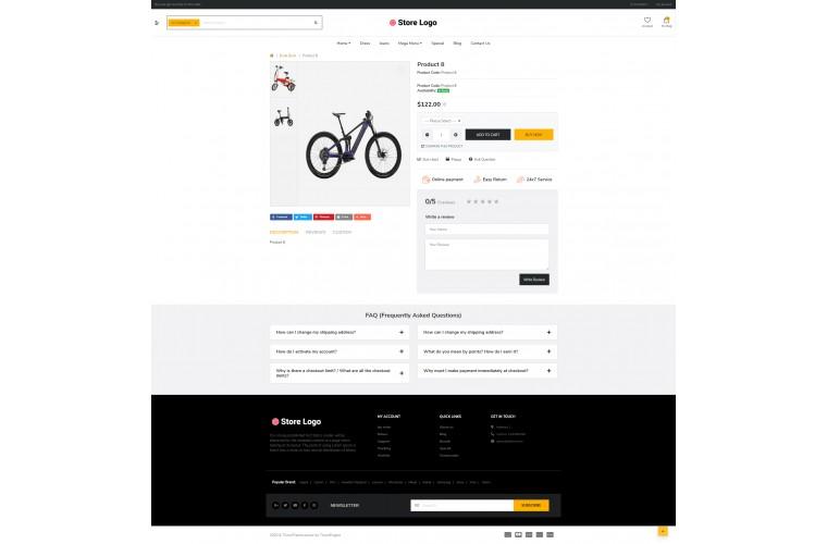Electric bike eMarket - Multipurpose MarketPlace OpenCart 3 Theme