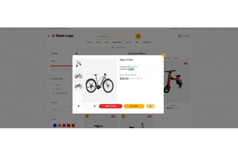 Sellya Battery Multi-Purpose Responsive OpenCart Theme
