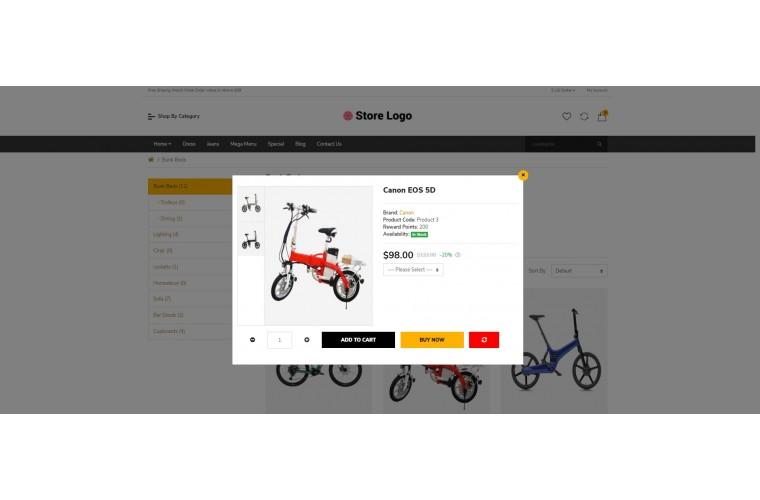 Electric bike Bigshop Advanced Responsive OpenCart Theme