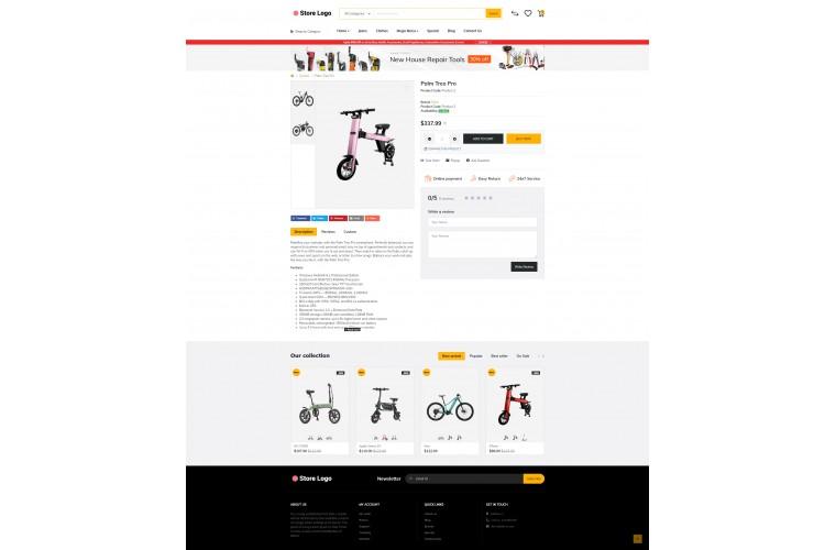 Electric bike Market Shop - Advanced OpenCart Theme