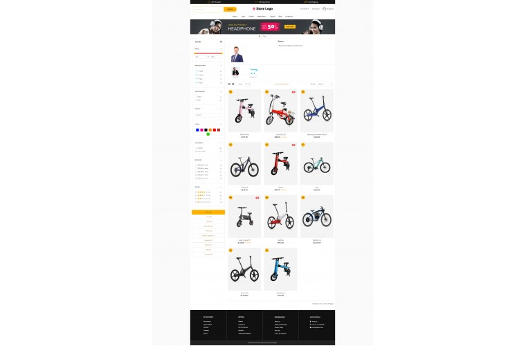Electric bike Revo - Drag & Drop Multipurpose OpenCart Theme