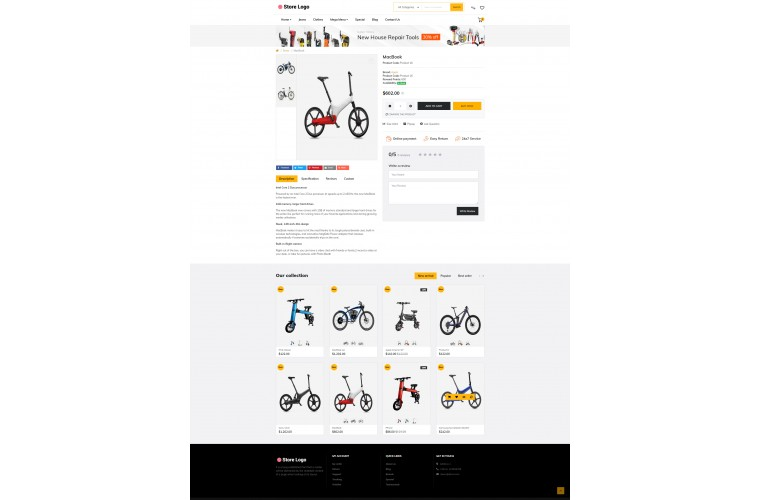 Faster Battery Pro Opencart theme