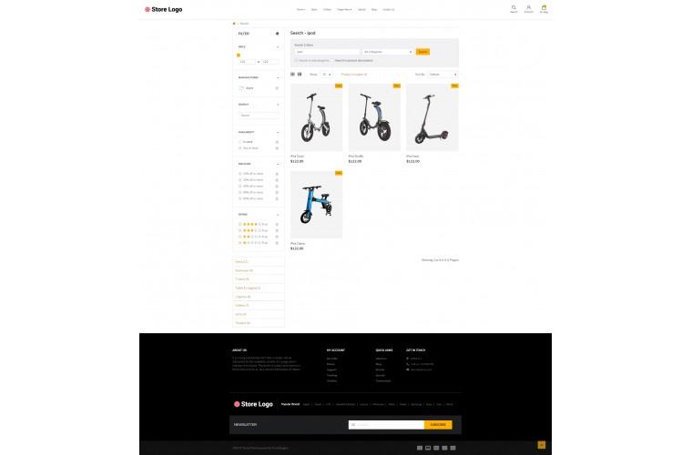 Battery store Advanced opencart theme