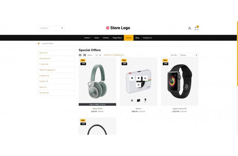 Light Electronics Premium Opencart theme