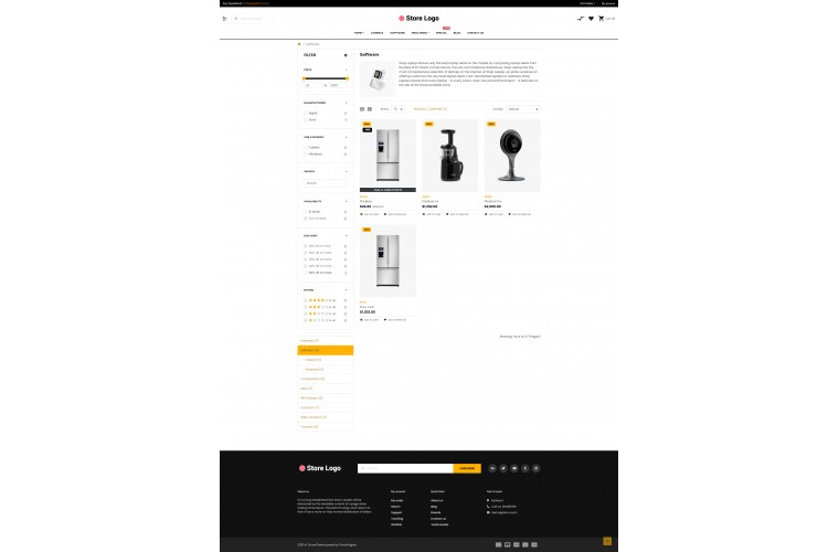 Sellegance Electronics Responsive and Clean OpenCart Theme