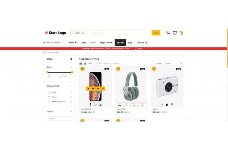 Rzen Electronics - Multi-Purpose OpenCart Theme