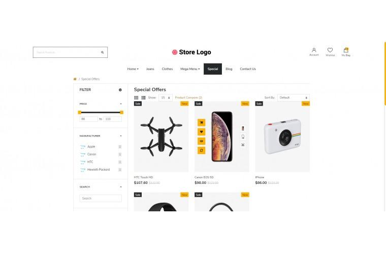 Next Electronics Shop - Responsive OpenCart theme