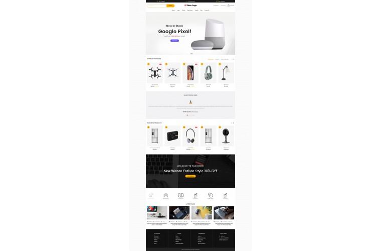 Electronics Revo - Drag & Drop Multipurpose OpenCart Theme