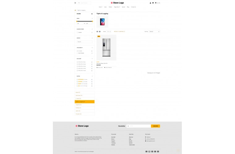 2021 Electronics Light and fast OpenCart Theme