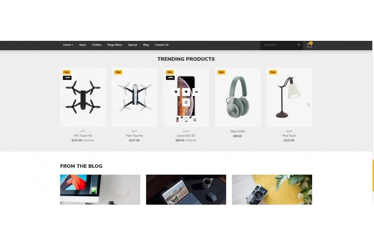 Electronics Pro Clean responsive OpenCart Theme