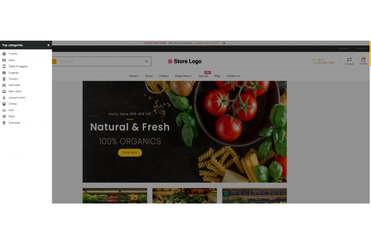 NUVO - Grocery & Provisions Opencart 3 Multipurpose theme