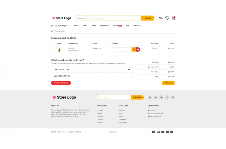 Grocery Provisions Opencart 3 opencart 4 Responsive theme